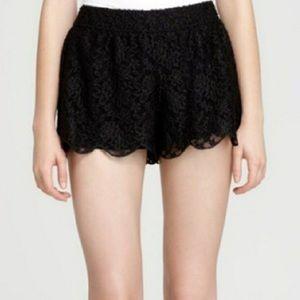 Free People black lace shorts
